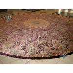 دایره دستباف تمام ابریشم قم قطر چهار متر تولیدی شیرازی اعلا باف