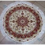 Circle Tabriz Handwoven Carpet Oliya Design
