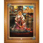 Tabriz Tableau Carpet Iranian girl