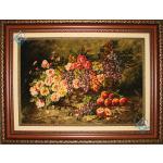 Tabriz Tableau Carpet Basket Flowers & Fruit