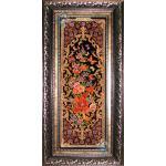 Qom Tableau Carpet Nightingale and flowers