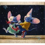 تابلو فرش تبریز طرح رقص موش ها