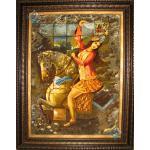 Tabriz Tableau Carpet By Master Painter Katouzian
