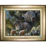 Tableau Carpet Handwoven Tabriz Squirrel Design