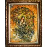 Tableau Carpet Handwoven Tabriz Miniaturer Design
