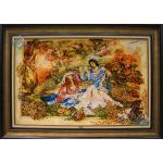Tableau Carpet Handwoven Tabriz Miniature  Design