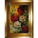 Tableau Carpet Handwoven Tabriz Ros Design
