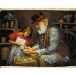 Tableau Carpet Handwoven Tabriz Grandpa Design