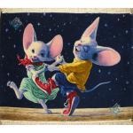 Tableau Carpet Handwoven Tabriz Dance of mice Design