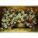 Tableau Carpet Handwoven Tabriz Flower Basket  Design