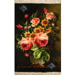 Tableau Carpet Handwoven Tabriz Rose Design