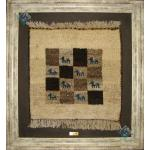 Tableau Carpet Handwoven Shiraz Gabeh Geometric Design