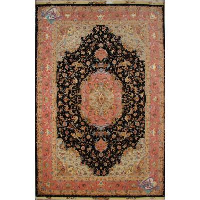six meter Tabriz carpet Handmade Hamedi Design