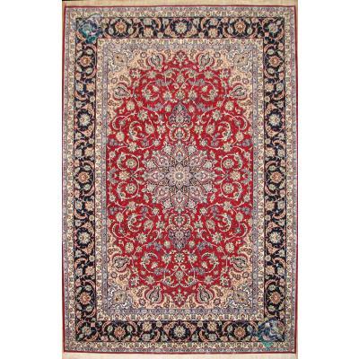 six meter Esfahan carpet Handmade Medallion Design