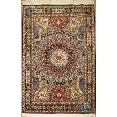six meter Tabriz carpet Handmade Dome Design