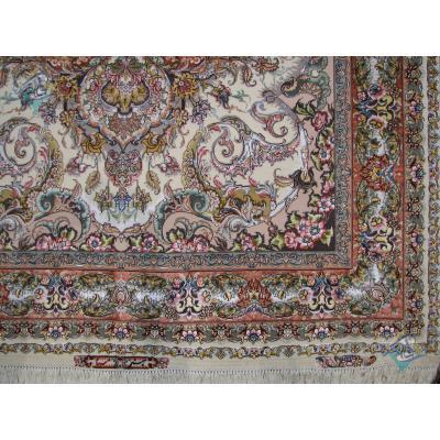 شش متری دستباف طرح صبا کف حاشیه و چله و گل ابریشم