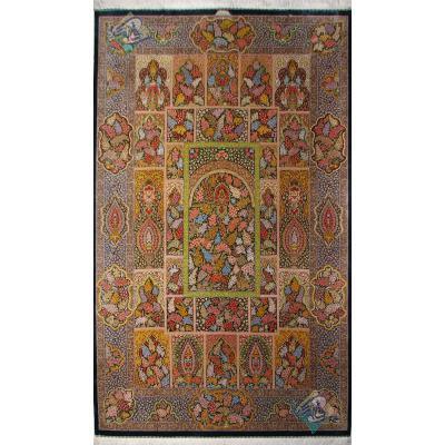 Six Meters Qom Carpet Handmade Adobe Design All Silk