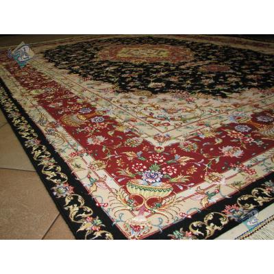 Six Meter Tabriz Carpet Handmade Neshat Design