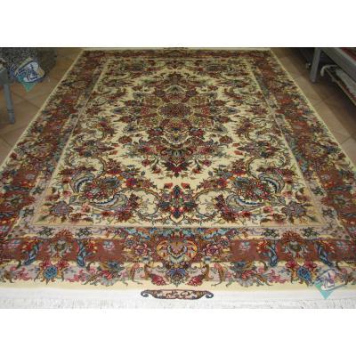 Pair Six meter Tabriz Carpet Handmade New Khatibi Design