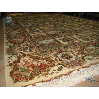 Six Meter Tabriz Carpet Handmade Golestan Design