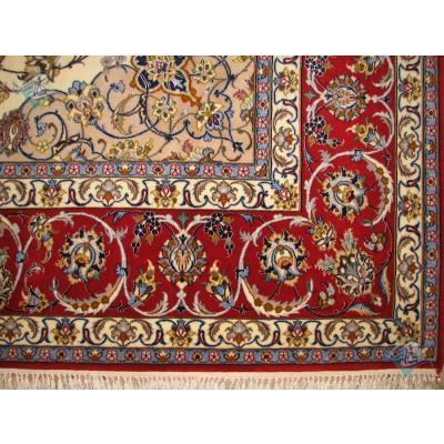 جفت شش متری دستباف اصفهان کرک و ابریشم چله ابریشم