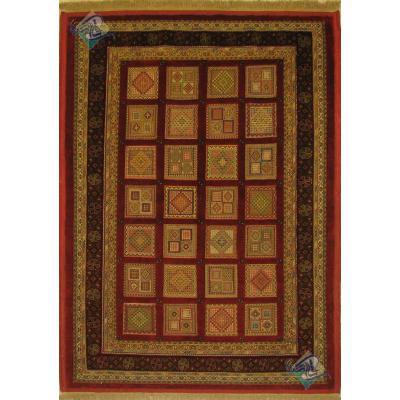قالیچه بزرگ سوزنی فرش سیرجان برجسته باف