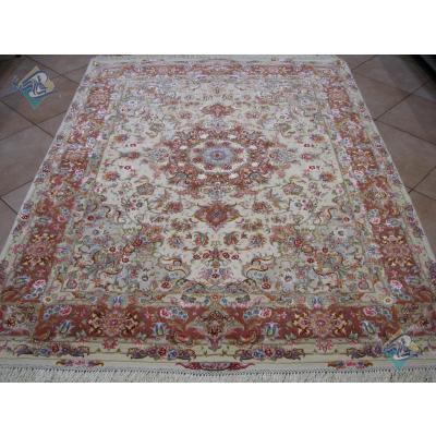 Rug Tabriz Carpet Handmade Oliya Design Silk & Soft Wool