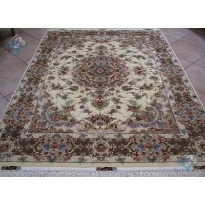 Rug Tabriz Carpet Handmade Katibi  Design