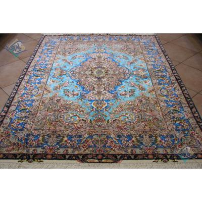 Rug Tabriz Carpet Handmade Khatibi Design