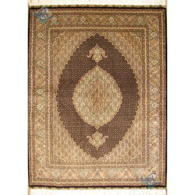 جفت قالیچه دستباف طرح ماهی جدید گل ابریشم پنجاه رج