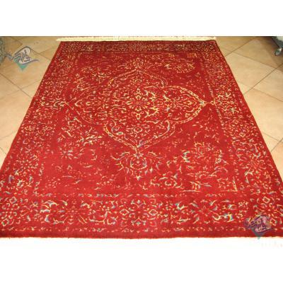قالیچه دستباف هریس نقشه رضوان پشم و ابریشم