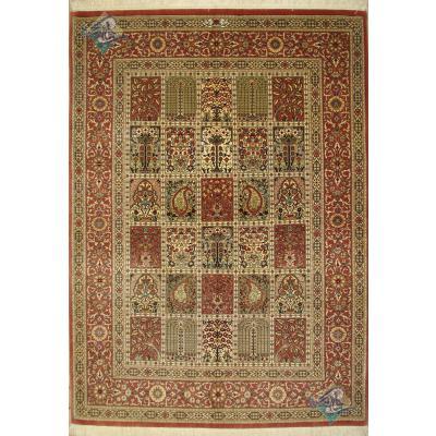 Rug Qom Carpet Handmade Adobe Design