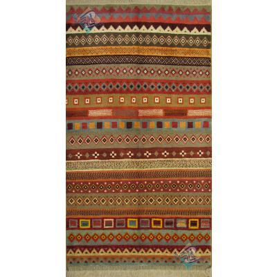 قالیچه دستباف گبه قشقایی تمام پشم رنگ گیاهی طرح محرمات