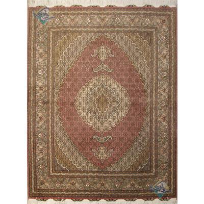 قالیچه دستباف نقشه جدید ماهی دور گلیم باف دار گل ابریشم