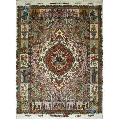 Rug Tabriz Carpet Handmade Fahoori Design