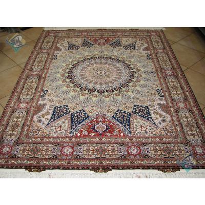 Rug Tabriz Carpet Handmade Dome Design
