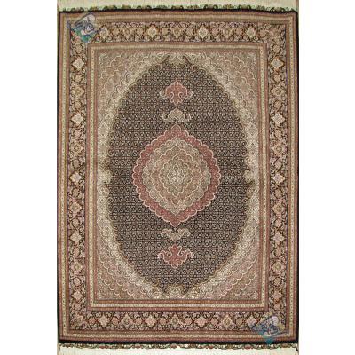قالیچه طرح جدید ماهی گل ابریشم پنجاه رج یازده متن پنجاه رج