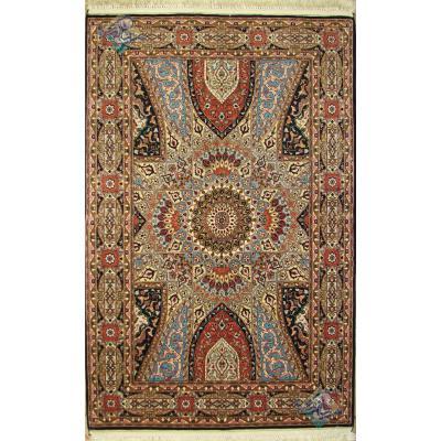 Pair Zar-o-nim Tabriz carpet Handmade Dome Design