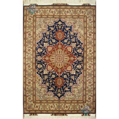 Zar-o-nim Tabriz Handwoven Heriz Design