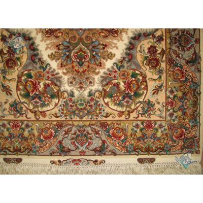 Pair Zar-o-nim Tabriz Handwoven Khatibi Design