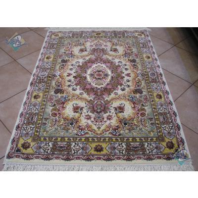 Zar-o-nim Tabriz Carpet Handmade Novinfar Design