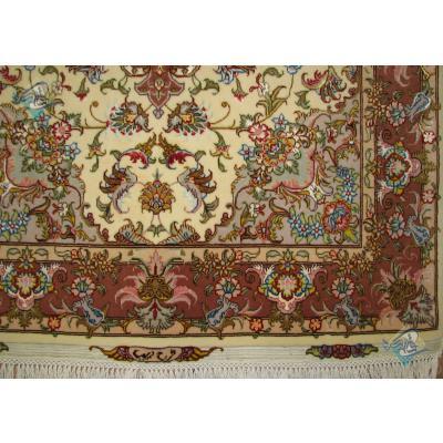 Zar-o-nim Tabriz Carpet Handmade Oliya Design