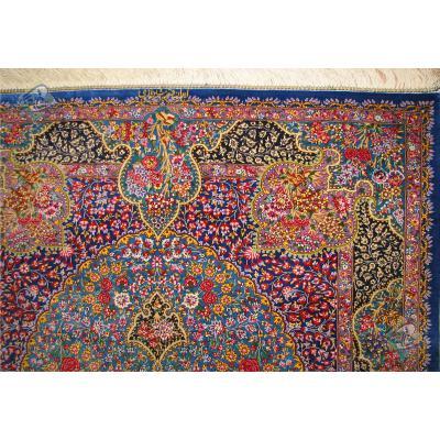 ذرع و نیم دستباف تمام ابریشم قم ترنج یکرفه تولیدی شیرازی