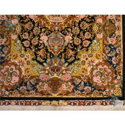 Zar-o-nim Tabriz Carpet Handmade Salari Design