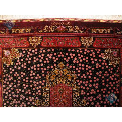 Zar-o-Nim Qom Carpet Handmade Mirmahdi Design