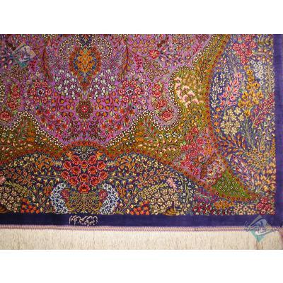 Zar-o-Nim Qom Carpet Handmade Momeni Design