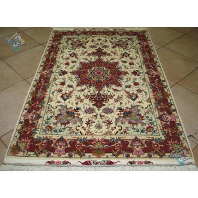 Zar-o-Nim Tabriz Carpet Handmade New Oliya Design