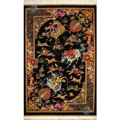 Zar-o-charak  Qom Complete Silk Preserve Design