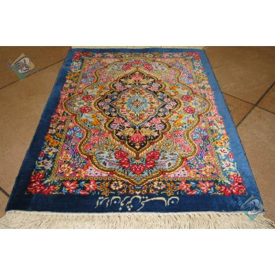 Handwoven Qom Carpet Complete Silk