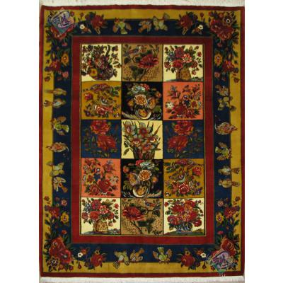 Rug Bakhtiari Carpet Handmade Adobe Design